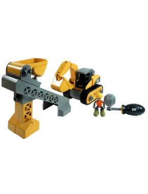 Конструктор Toy State CAT Machine Maker Бульдозер/Подъемный кран