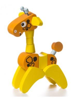 Деревянная игрушка Cubika Жирафа акробат (12541)