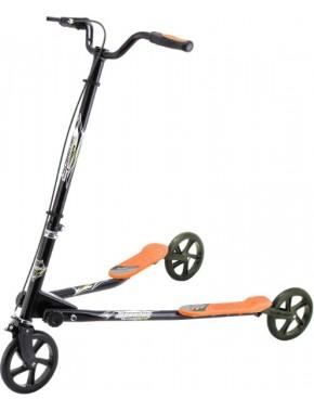 Самокат трехколесный GO Travel Speeder Большой Черно-оранжевый