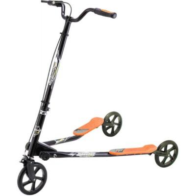 Самокат трехколесный GO Travel Speeder Средний Черно-оранжевый