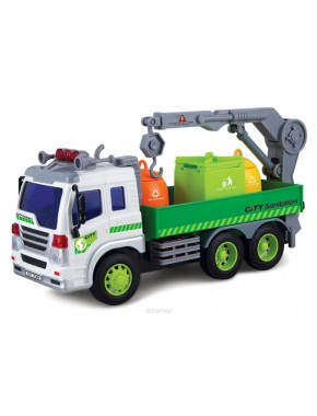 Мусороуборщик Dave Toy Junior Trucker 28 см со светом и звуком (33017)