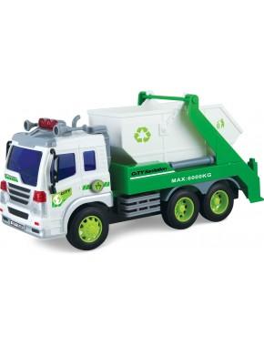 Строительный мусоровоз Dave Toy Junior Trucker 28 см со светом и звуком (33026)