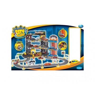 Игровой набор Dave Toy Гараж Люкс с 6 машинками