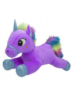 Мягкая игрушка Toy World Единорог Лиловый с радужной гривой 60 см (5264)