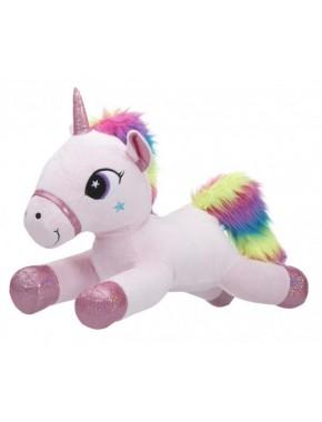 Мягкая игрушка Toy World Единорог Розовый с радужной гривой 40 см (5235)