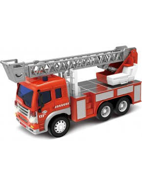 Пожарная машина Dave Toy Junior Trucker 28 см с лестницей + со светом и звуком (33015)