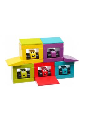 Деревянный конструктор Cubika Цветные гонки (14859)