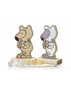 Игра-раскраска Cubika Мишка с красками (13852)