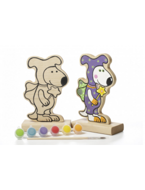 Игра-раскраска Cubika Собачка Волшебник с красками (13838)