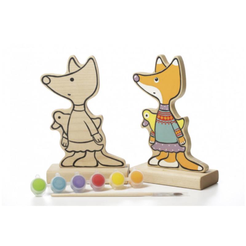 Игра-раскраска Cubika Лисичка с красками (13876)