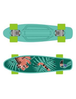 Скейтборд GO Travel с рисунком, 56 cм