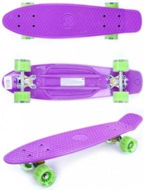 Скейтборд GO Travel фиолетово-зеленый
