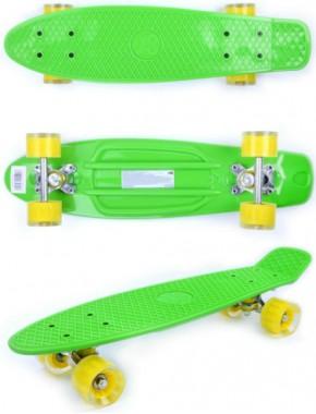 Скейтборд GO Travel зелено-желтый