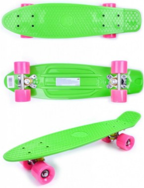 Скейтборд GO Travel зелено-розовый