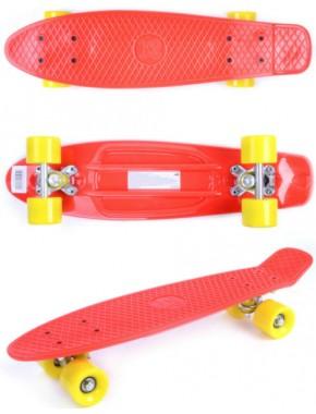 Скейтборд GO Travel красно-оранжевый