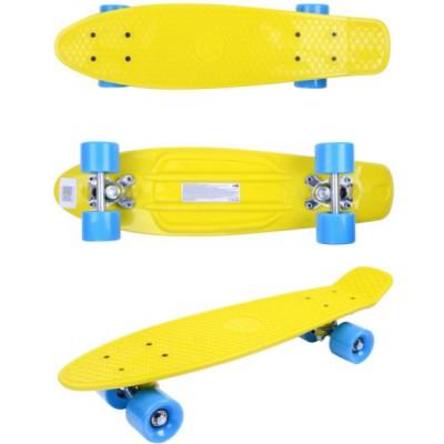 Скейтборд GO Travel желто-голубой