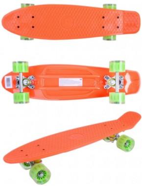 Скейтборд GO Travel оранжево-зеленый