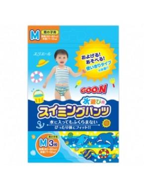 Трусики-подгузники для плавания Goo.N для мальчиков 7-12 кг, ростом 60-80 см (размер M, 3 шт) 753642