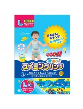 Трусики-подгузники для плавания Goo.N для мальчиков 9-14 кг, ростом 70-90 см (размер L, 3 шт) 753644
