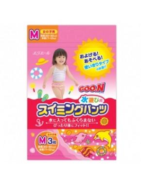Трусики-подгузники для плавания Goo.N для девочек 7-12 кг, ростом 60-80 см (размер M, 3 шт) 753643