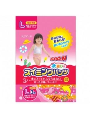 Трусики-подгузники для плавания Goo.N для девочек 9-14 кг, ростом 70-90 см (размер L, 3 шт) 753645