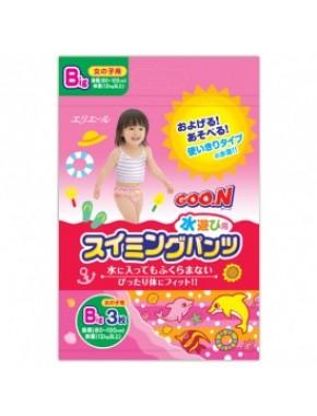 Трусики-подгузники для плавания Goo.N для девочек от 12 кг, ростом 80-100 см (размер Big (XL), 3 шт) 753647