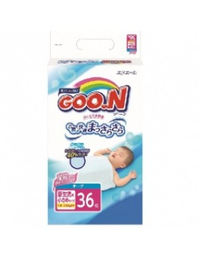 Подгузники GOO.N для маловесных новорожденных 1,8-3 кг (р. SSS, на липучках, унисекс,36 шт) 753656