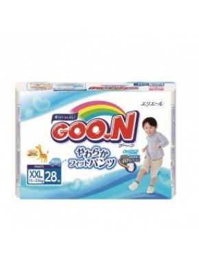 Трусики-подгузники GOO.N для мальчиков 13-25 кг (размер BigBig (XXL), 28 шт) 753716