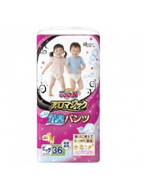 Трусики-подгузники GOO.N серии AROMAGIC для весом детей 12-20 кг (размер Big (XL), унисекс,36шт.) 853040
