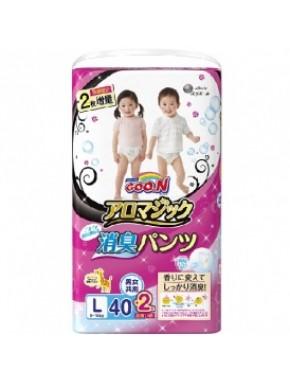 Трусики-подгузники GOO.N серии AROMAGIC для детей весом 9-14 кг (размер L, унисекс, 40+2 шт) 853039