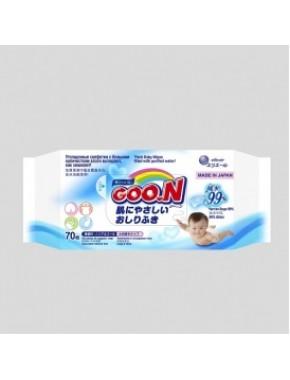 Влажные салфетки GOO.N для чувствительной кожи (70 шт, увеличенные, в новой цветной пачке) 733528