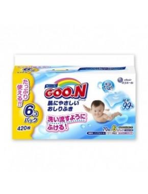 Влажные салфетки GOO.N для чувствительной кожи (6 мягких сменных блоков по 70 шт) 733549
