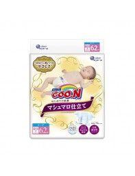 Подгузники Goo.N Super Premium Marshmallow для новорожденных до 5 кг унисекс 62 шт (853346)