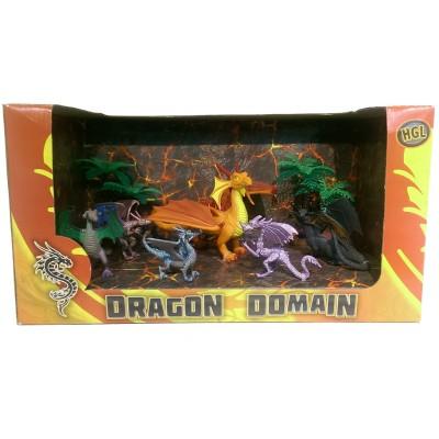 Игровой набор HGL Dragon Domain Волшебные драконы Серия A 6 шт