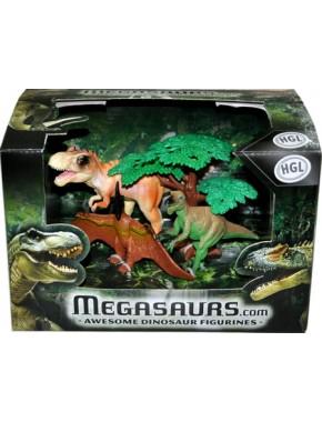 Набор фигурок динозавров HGL Awesome Dinosaur Figurines, 3 шт, серия A