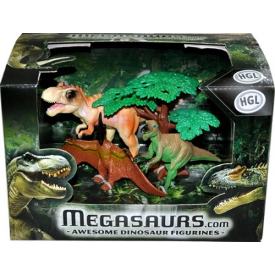 Набор фигурок динозавров HGL Awesome Dinosaur Figurines, 3 шт, серия A (SV10621)