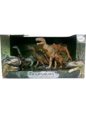 Набор фигурок динозавров HGL Awesome Dinosaur Figurines, 7 шт, серия B