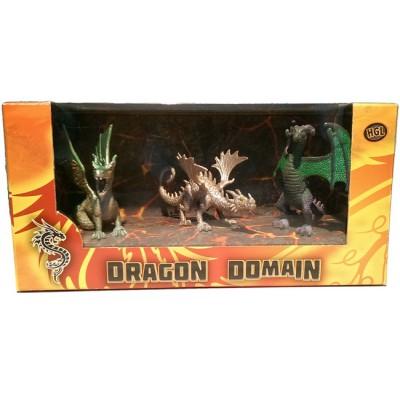 Игровой набор HGL Dragon Domain Мир драконов Серия D 3 шт