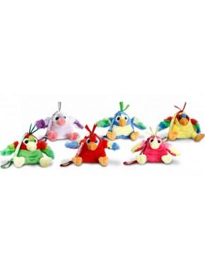 Весёлый попугай с клипсой 8см Keel Toys в ассортименте (SF8644)