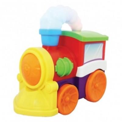 Развивающая игрушка - МУЗЫКАЛЬНЫЙ ПАРОВОЗ (на колесах, свет, звук) 052357