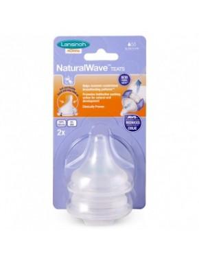 Соска для естественного кормления Natural Wave (S, медленный поток, 2 шт.) 75900