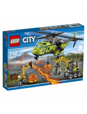 Конструктор LEGO City Грузовой вертолёт исследователей вулканов (60123)