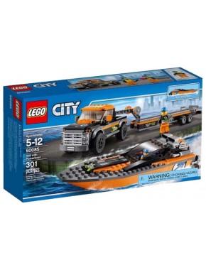 Конструктор LEGO City Great Vehicles Внедорожник 4х4 с гоночным катером (60085)