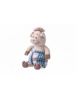 Мягкая игрушка Same Toy Свинка в комбинезоне, 18 см (THT709)
