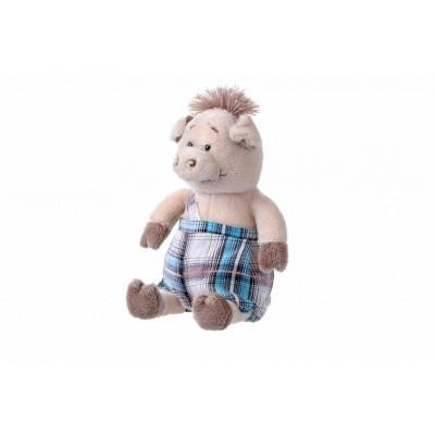Мягкая игрушка Same Toy Свинка в комбинезоне, 18 см