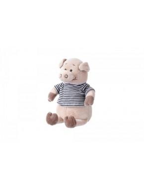 Мягкая игрушка Same Toy Поросенок в рубашке (черный) 18 см (THT716)