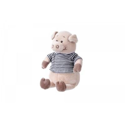 Мягкая игрушка Same Toy Поросенок в рубашке (черный) 18 см