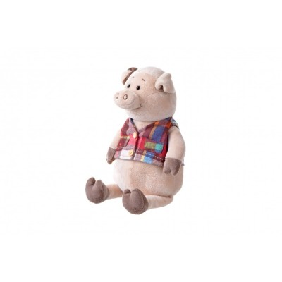 Мягкая игрушка Same Toy Свинка в жилетке, 35 см