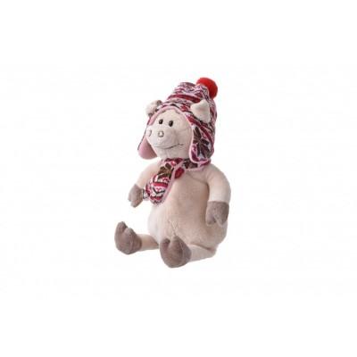 Мягкая игрушка Same Toy Свинка в шапке, 30 см