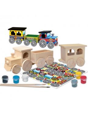 Набор для раскрашивания Masterpieces Works of Ahhh Поезд